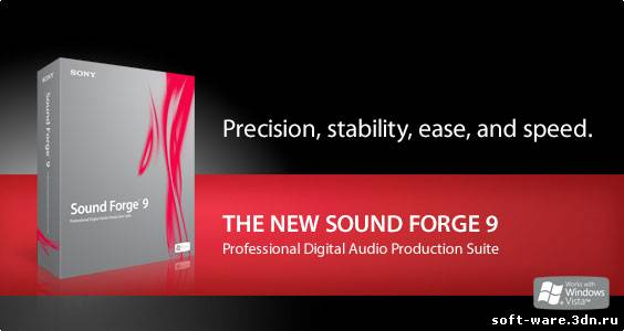 SONY Sound Forge Pro 10.0d.503 + crack цифровой аудио. татарские песни - ск